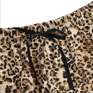 Intimates & Sleepwear - Silk Lace Leopard Pajama Set